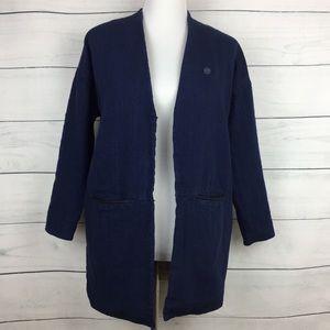 Maison Scotch Linen Blend Chambray Jacket